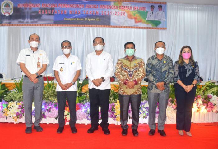Bupati Nias, Buka secara resmi pelaksanaan Musrenbang, RPJMD Kabupaten Nias, Tahun. 2021-2026