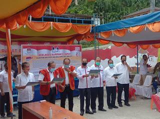 Rapat Pleno KPU, Berikut Nomor Urut Paslon CAKADA di Kabupaten Nias