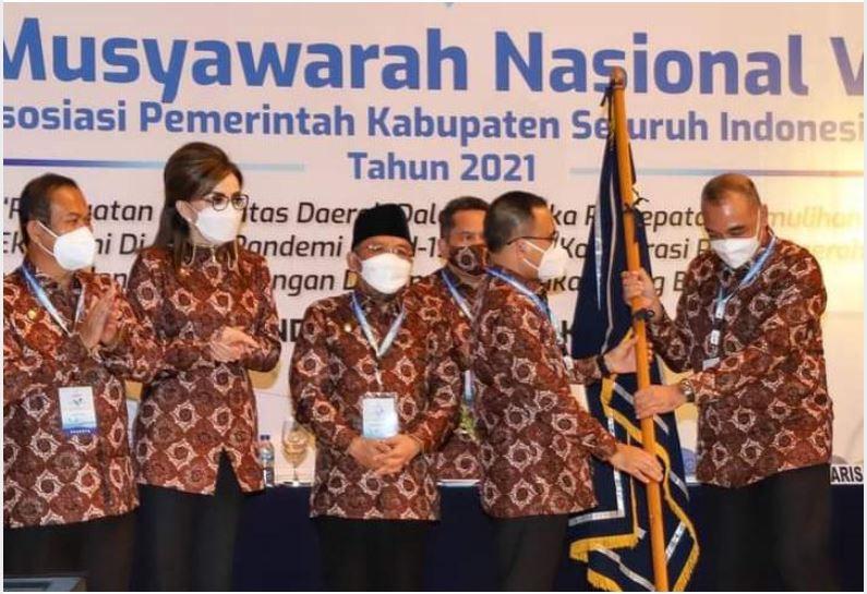 Musyawarah Nasional APKASI Digelar, Bupati Dharmasraya Jabat Ketua Umum Periode 2021 – 2026